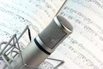 music, lyrics and microphone