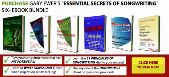 "Purchase ""The Essential Secrets of Songwriting"" 6 Ebook Bundle"