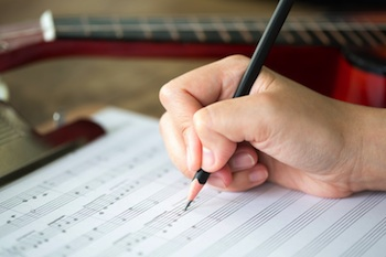 Songwriting music paper