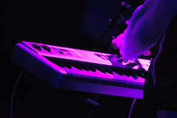 Purple Synth Keyboard