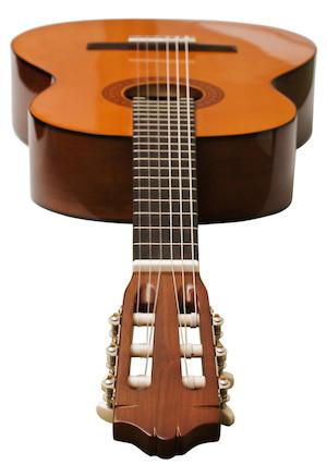 A view of a guitar's symmetry
